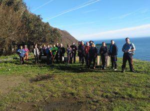 El Grupo La Chiruca realizará este sábado la etapa del Camino de Santiago Vegadeo-Trabada
