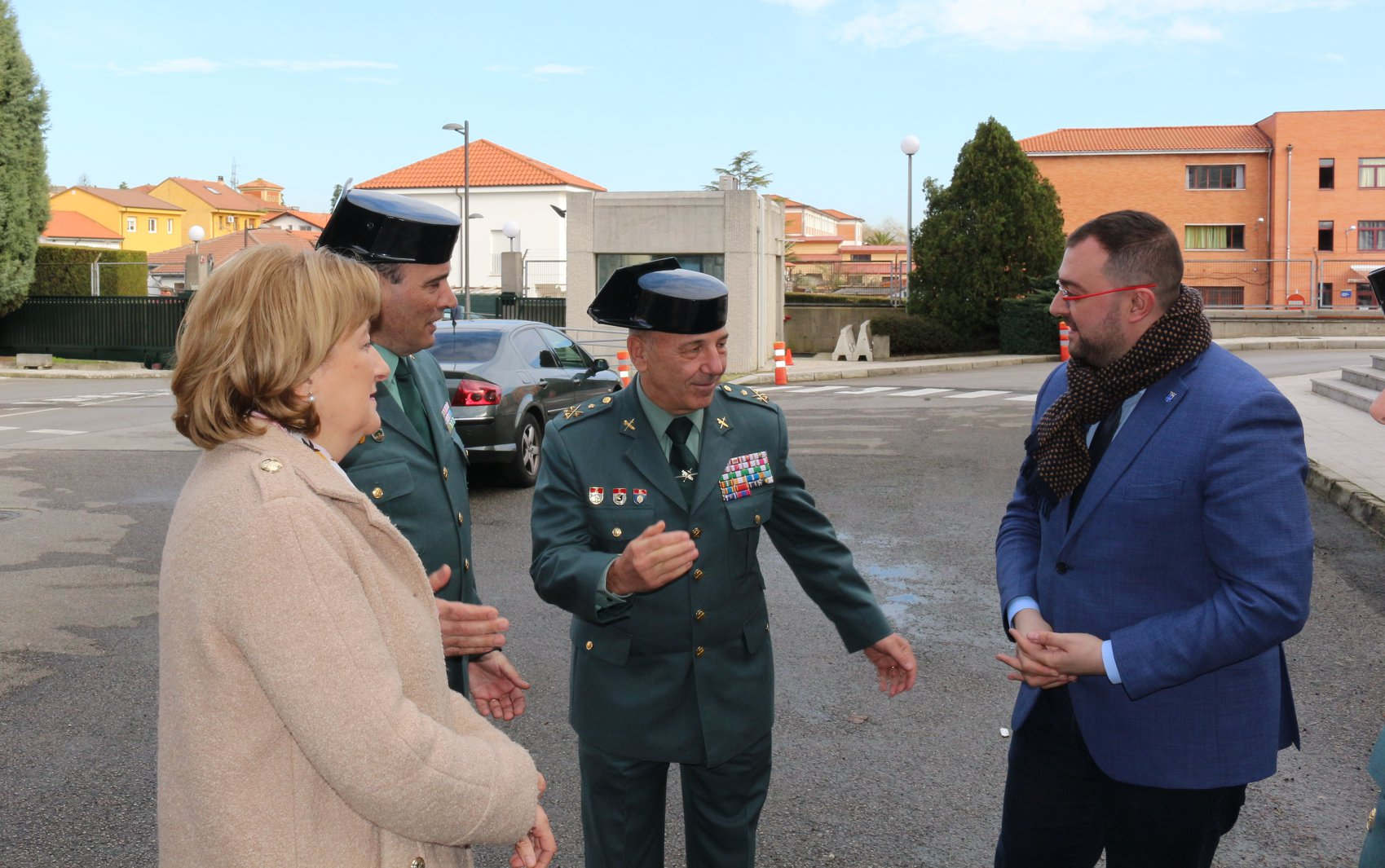 El Teniente General Fernando Santafé, Mando de Operaciones de la Benemérita, visita la Guardia Civil de Asturias