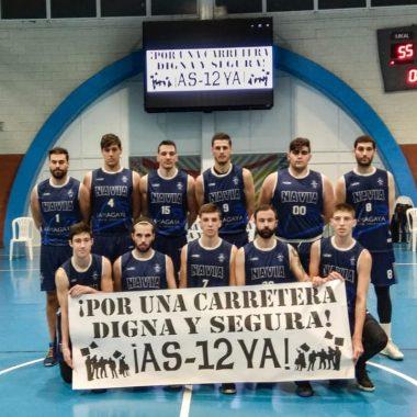 El CB Navia dedicó su jornada deportiva de apoyo a la Plataforma Valles del Navia