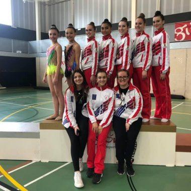 Buenos resultados del Ritmica Ría de Navia y Recta Final de Luarca en el Campeonato de Asturias de Gimnasia Rítmica