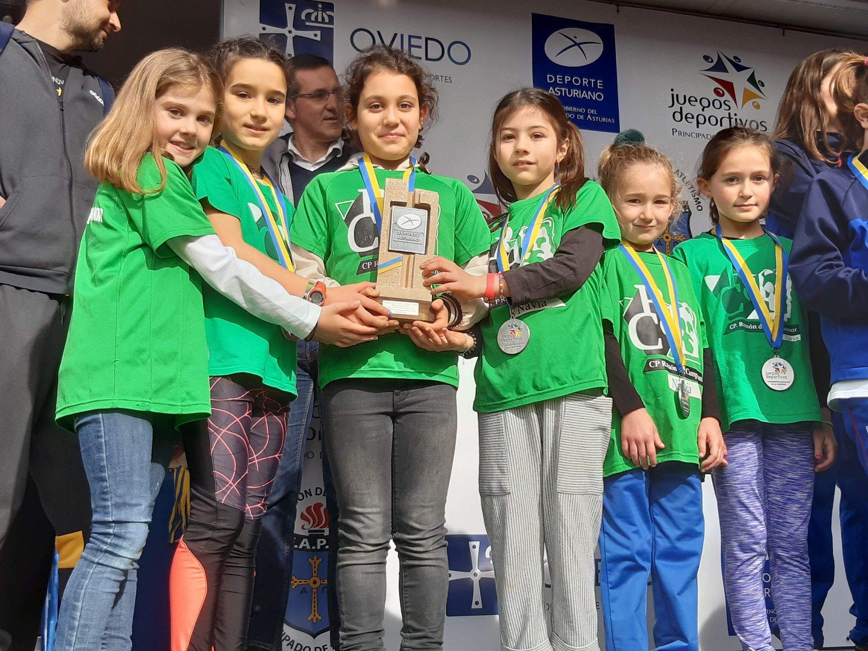 El Colegio Ramón de Campoamor, Subcampeón de Asturias Benjamín Femenino de Cross Escolar