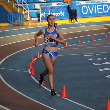 Tres medallas para el Club Atletismo Occidente (CAO Navia), en el Autonómico de Pista Cubierta