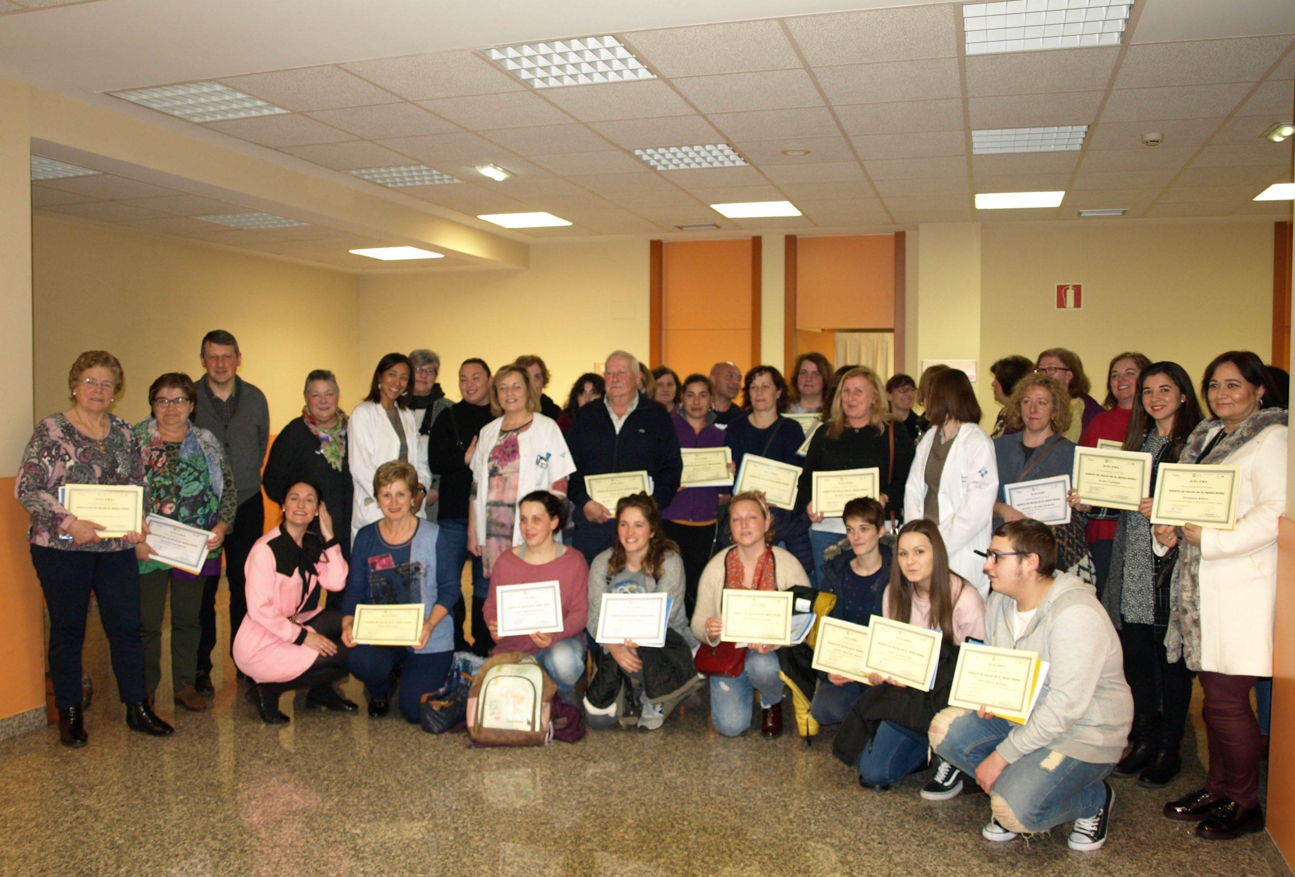 El Alcalde de Tineo entrega Diplomas a 31 Agentes Promotores de Salud