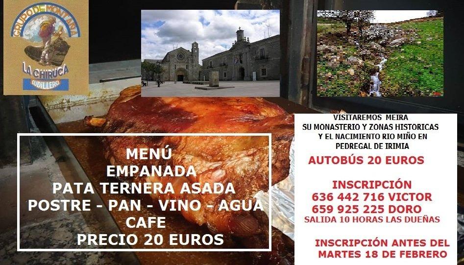 El Grupo La Chiruca de Cudillero realizará el sábado una salida a Meira (Lugo)