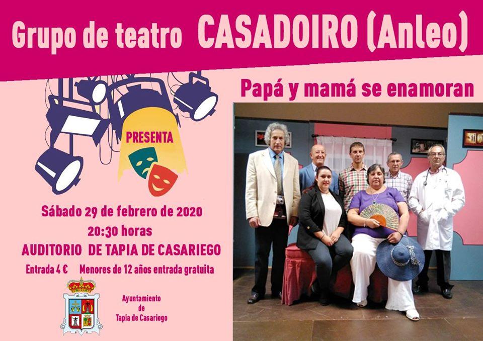 Teatro en Tapia este sábado con el Grupo Casadoiro de Anleo