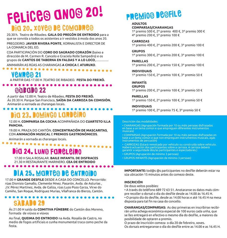 Ribadeo rememora los Felices Años 20 en su Entroido 2020