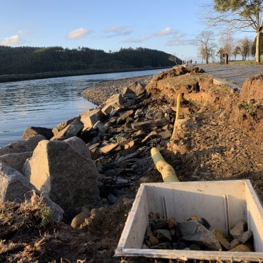 La Poza y el Paseo Marítimo de Navia tras los últimos temporales...