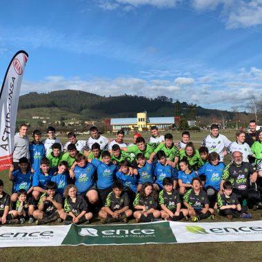 El Beone Rugby desplazó a La Morgal a su Escuela; Medio Centenar de Jugadores de entre 6 y 16 Años