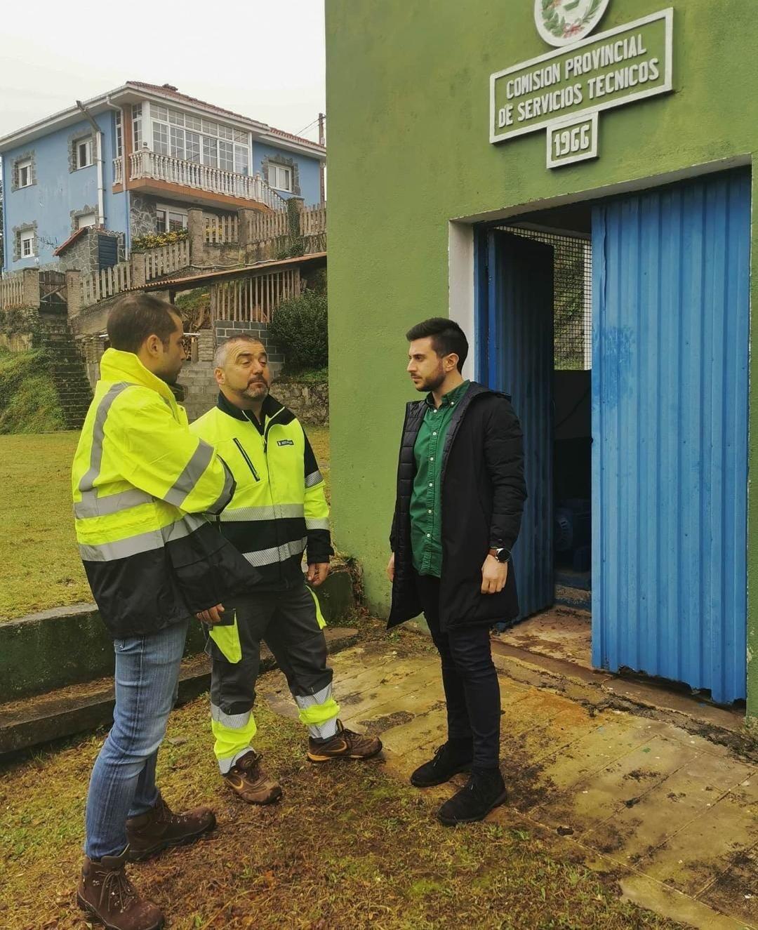 Obras de renovación en la red de agua potable de Cudillero