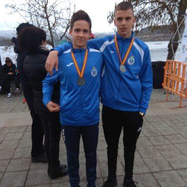 Plata para Pelayo y Carlos Álvarez (Remeros Navia), en el Nacional de Larga Distancia