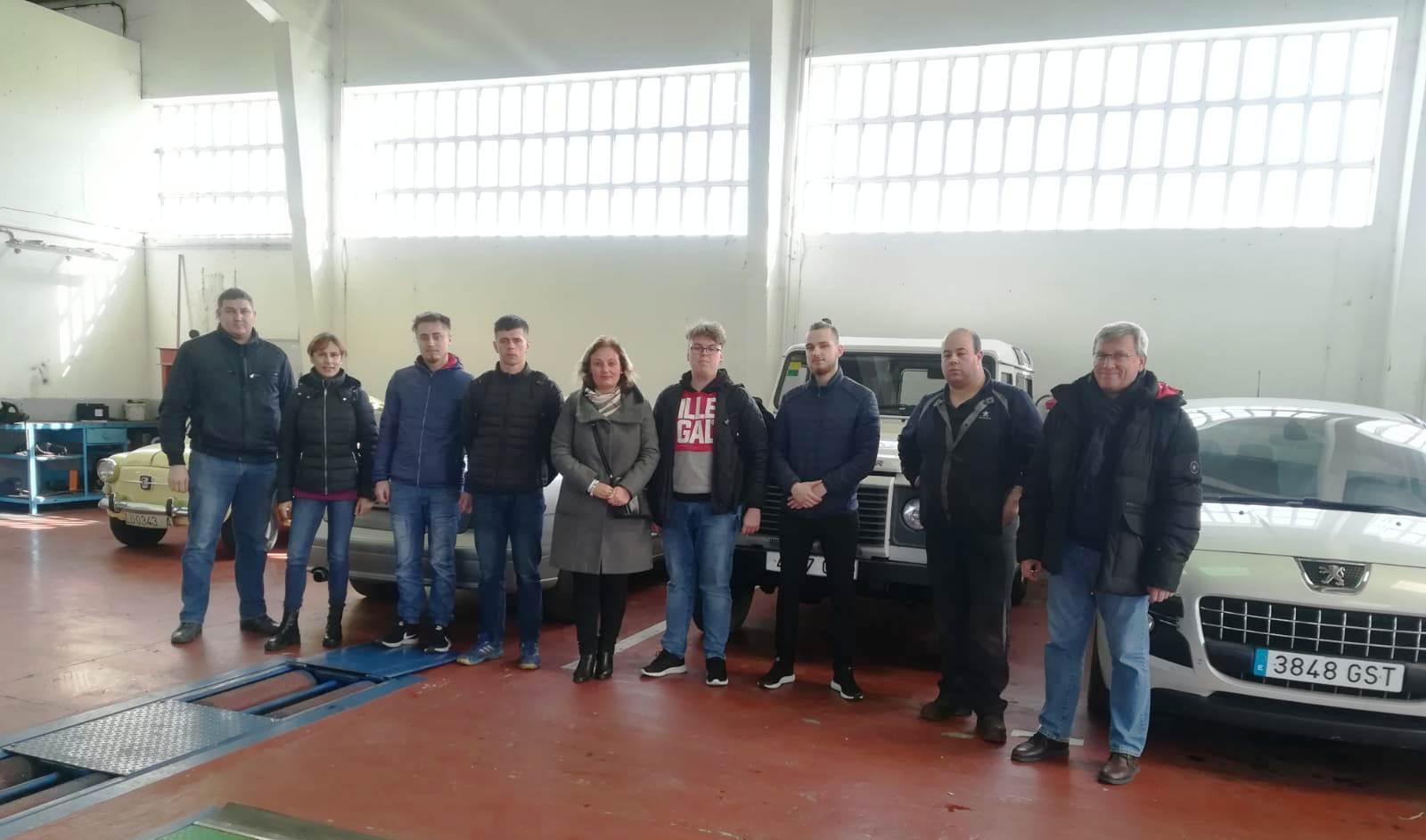 Llegan a Ribadeo los cuatro alumnos lituanos que harán prácticas en empresas de la zona