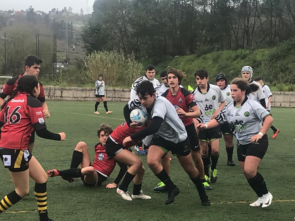 El Beone Rugby Sub-16 logra una importante victoria en su visita a Pontevedra