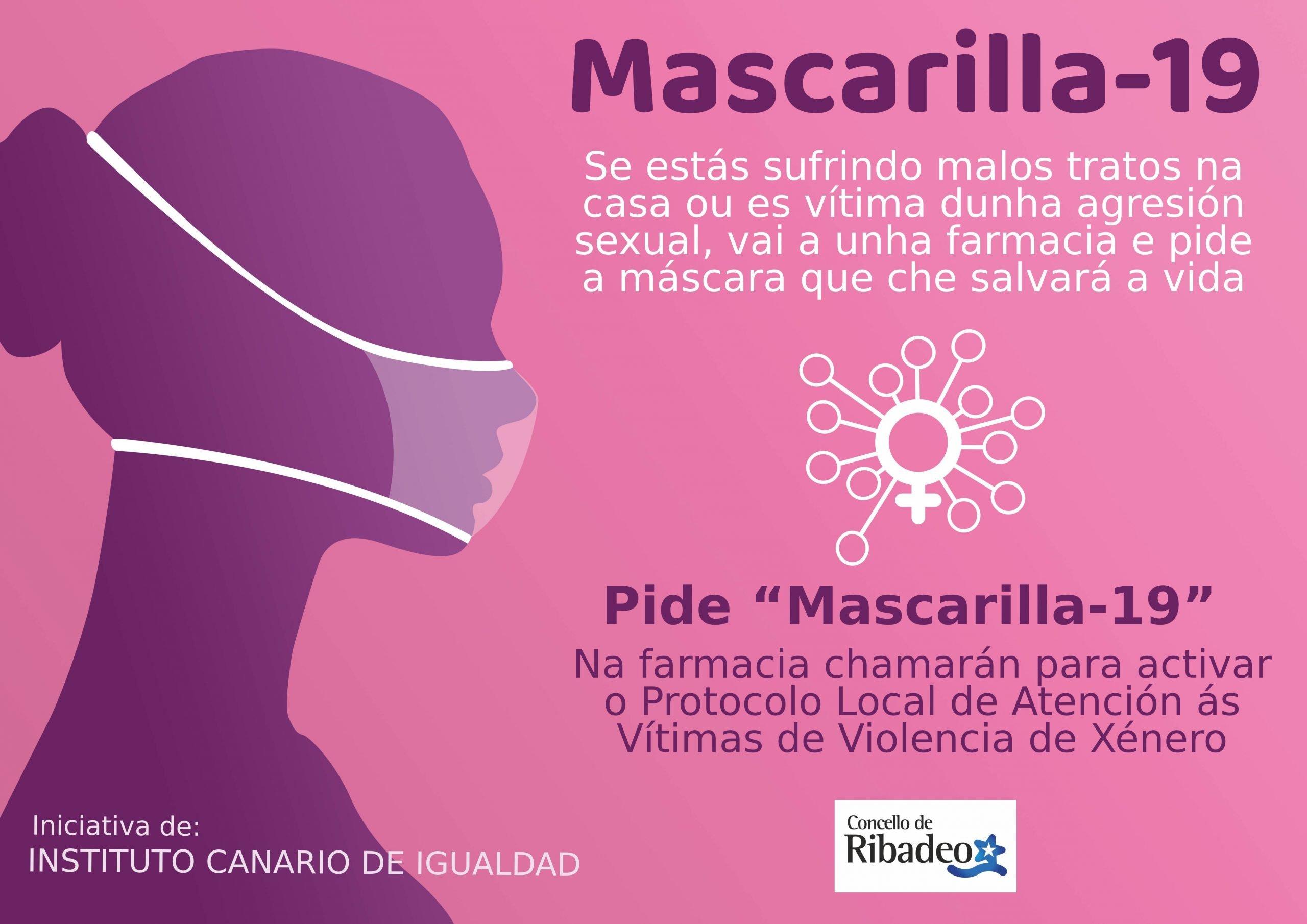 """Campaña """"Mascarilla 19"""" Ribadeo para ayudar a víctimas de violencia de género durante este confinamiento"""
