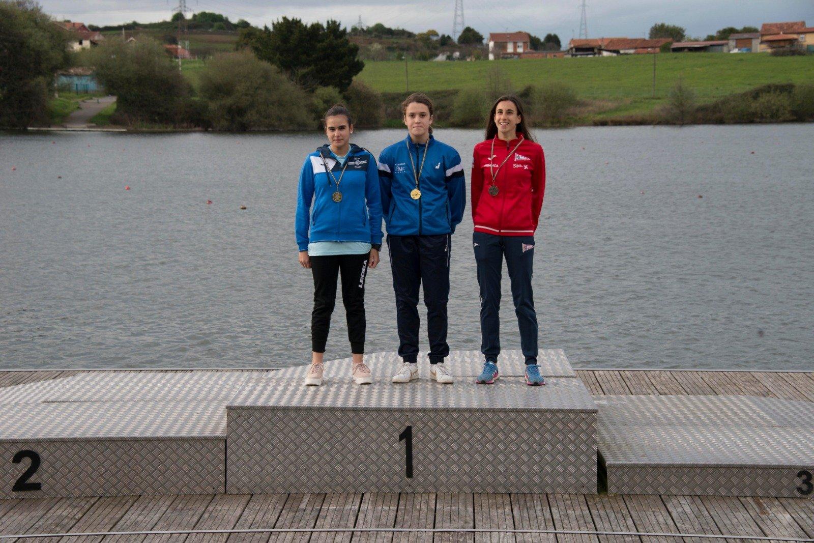 Lucía Val (Club Albiones), Campeona de Asturias de Invierno Cadete de Piragüismo