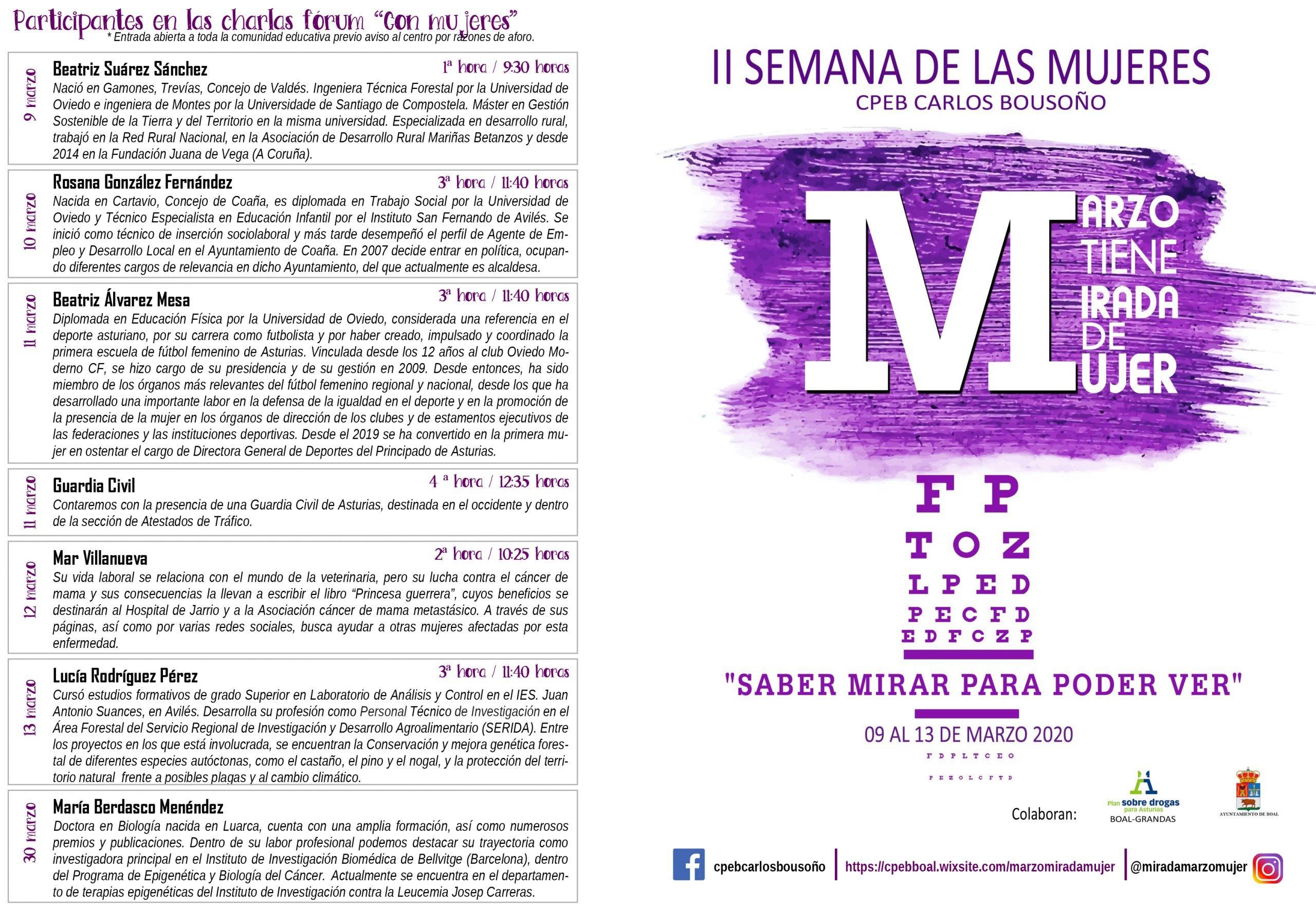 II Semana de las Mujeres en el CEPB Carlos Bousoño de Boal