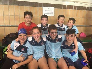 Los nadadores benjamines y alevines del Villa de Navia participaron en la 5ª Jornada de los Juegos Deportivos