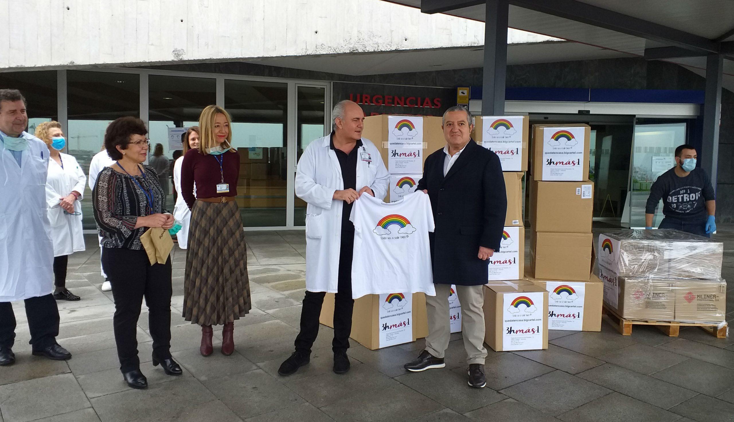 Entrega al HUCA del material sanitario donado por los promotores de la campaña solidaria Todo va a Salir Bien