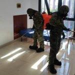 La Unidad Militar de Emergencias realizó labores de Desinfección en distintos puntos de Asturias