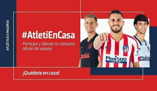 Participa en el concurso #AtletiEnCasa y podrás llevarte una camiseta oficial