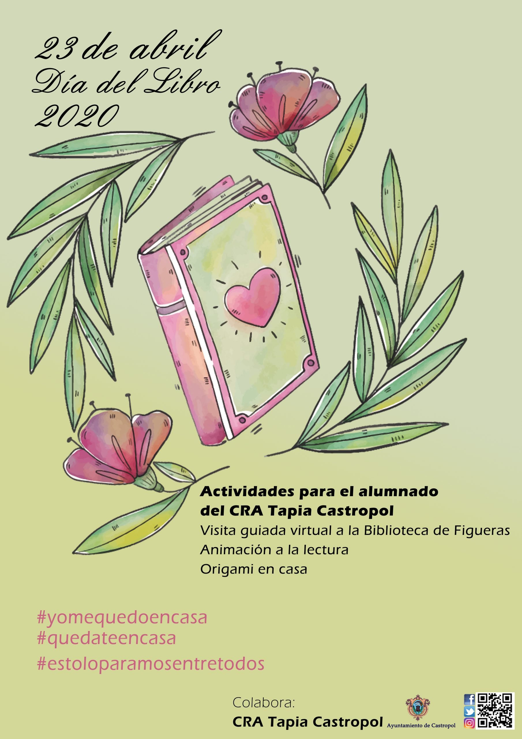 La Biblioteca de Figueras (Castropol) realiza varias propuestas conmemorativas del Día del Libro