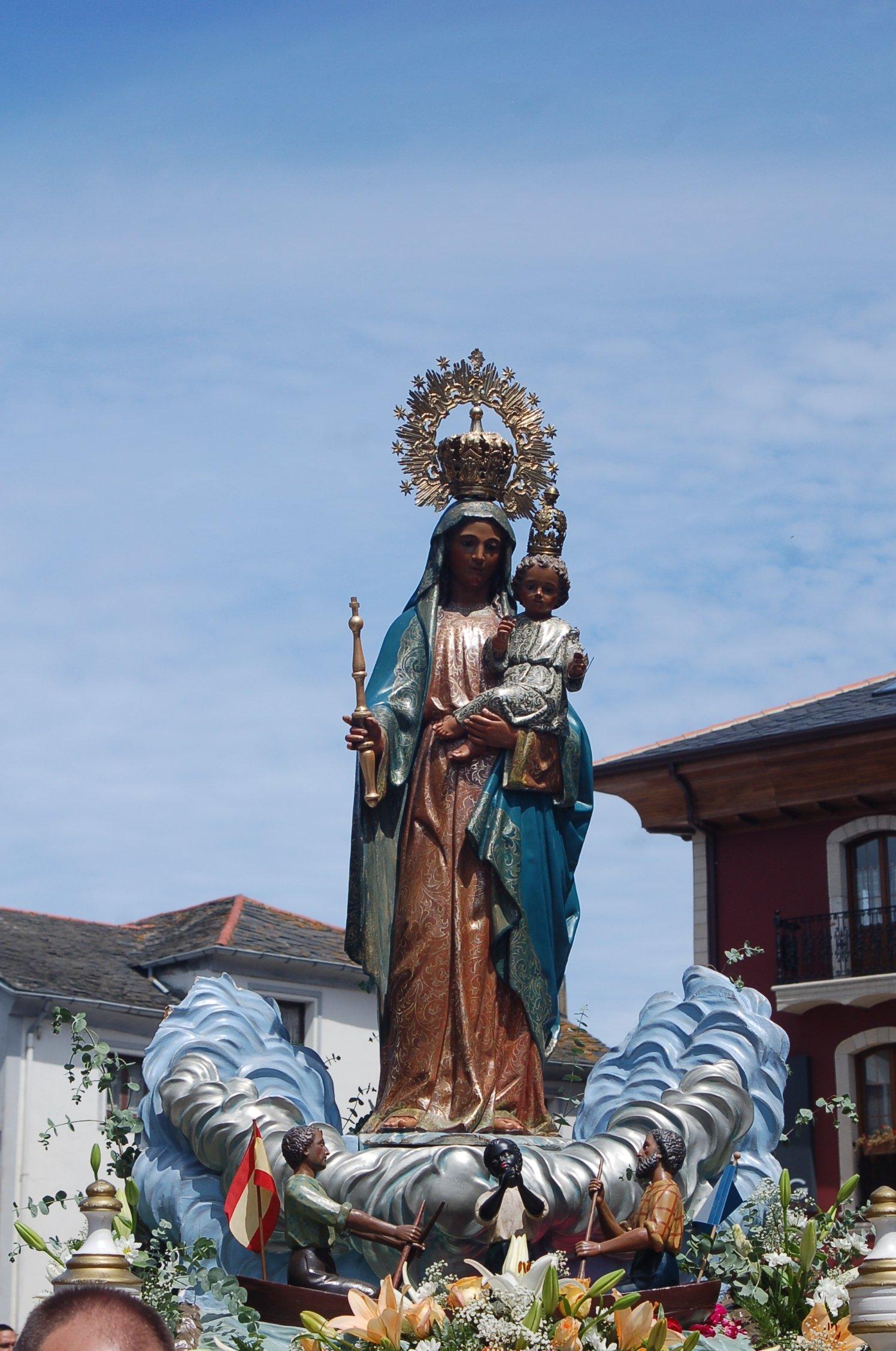 Algunas curiosidades sobre la imagen de la Virgen de la Barca ...