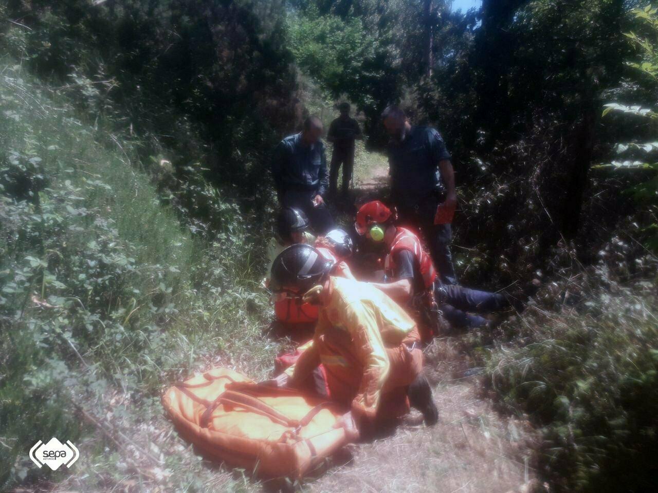 Rescate y Asistencia Sanitaria a un varón con quemaduras en Cabranes