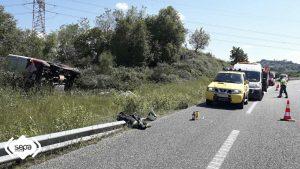 Dos Heridos de diversa consideración en un accidente de tráfico en Siero