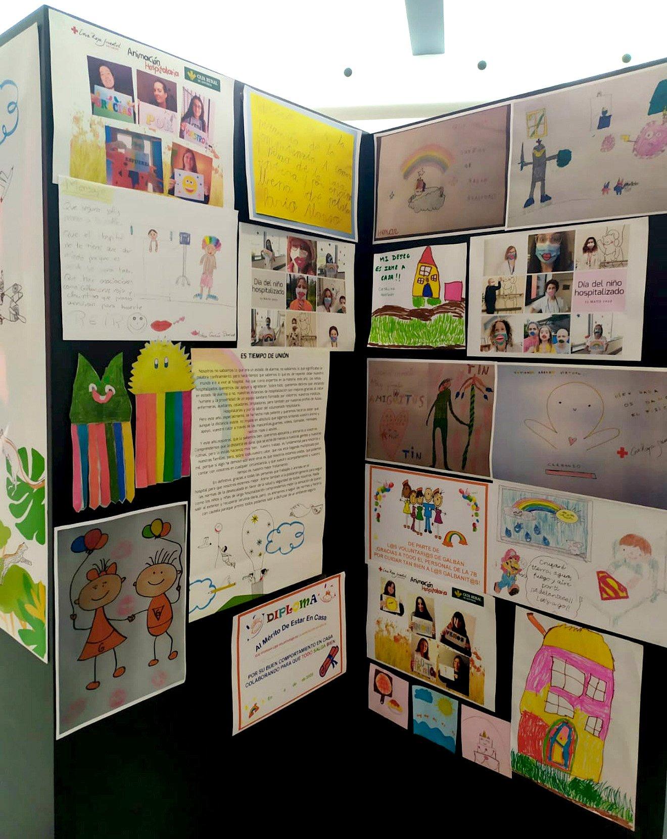 El HUCA celebra el Día del Niño Hospitalizado con una muestra que recoge un centenar de trabajos realizados durante el confinamiento
