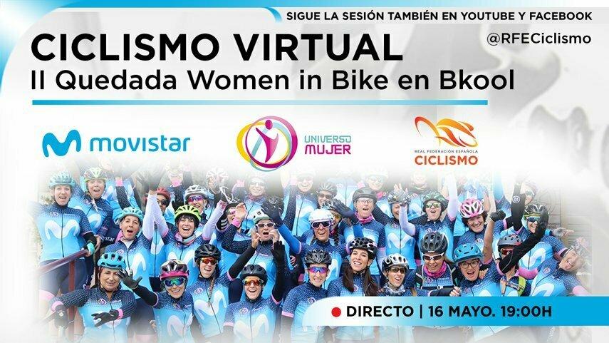 Women in Bike celebra este sábado su II quedada virtual. La actividad será apta para todos los niveles y podrá seguirse también por Facebook y Youtube.