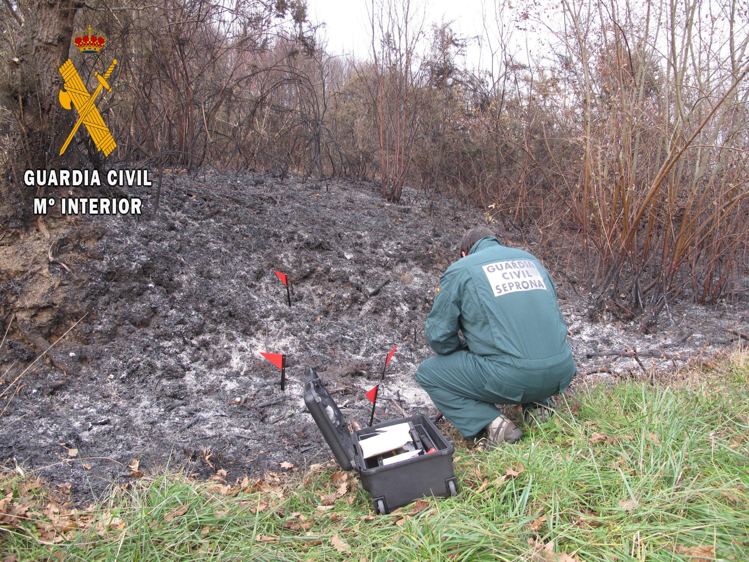 La Guardia Civil detiene a un hombre e investiga a otro por la autoría de incendios forestales en Villayón