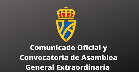 Convocatoria de Asamblea General Extraordinaria de la Federación Asturiana de Fútbol
