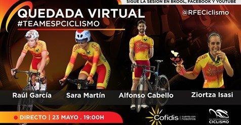 La RFEC organiza la 1ª quedada virtual con el #TeamESPciclismo