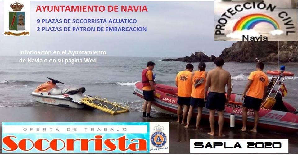 El Ayuntamiento de Navia convoca oferta publica de empleo de socorristas acuáticos y patrones de embarcación para el Plan de Salvamento de las Playas del Concejo Naviego