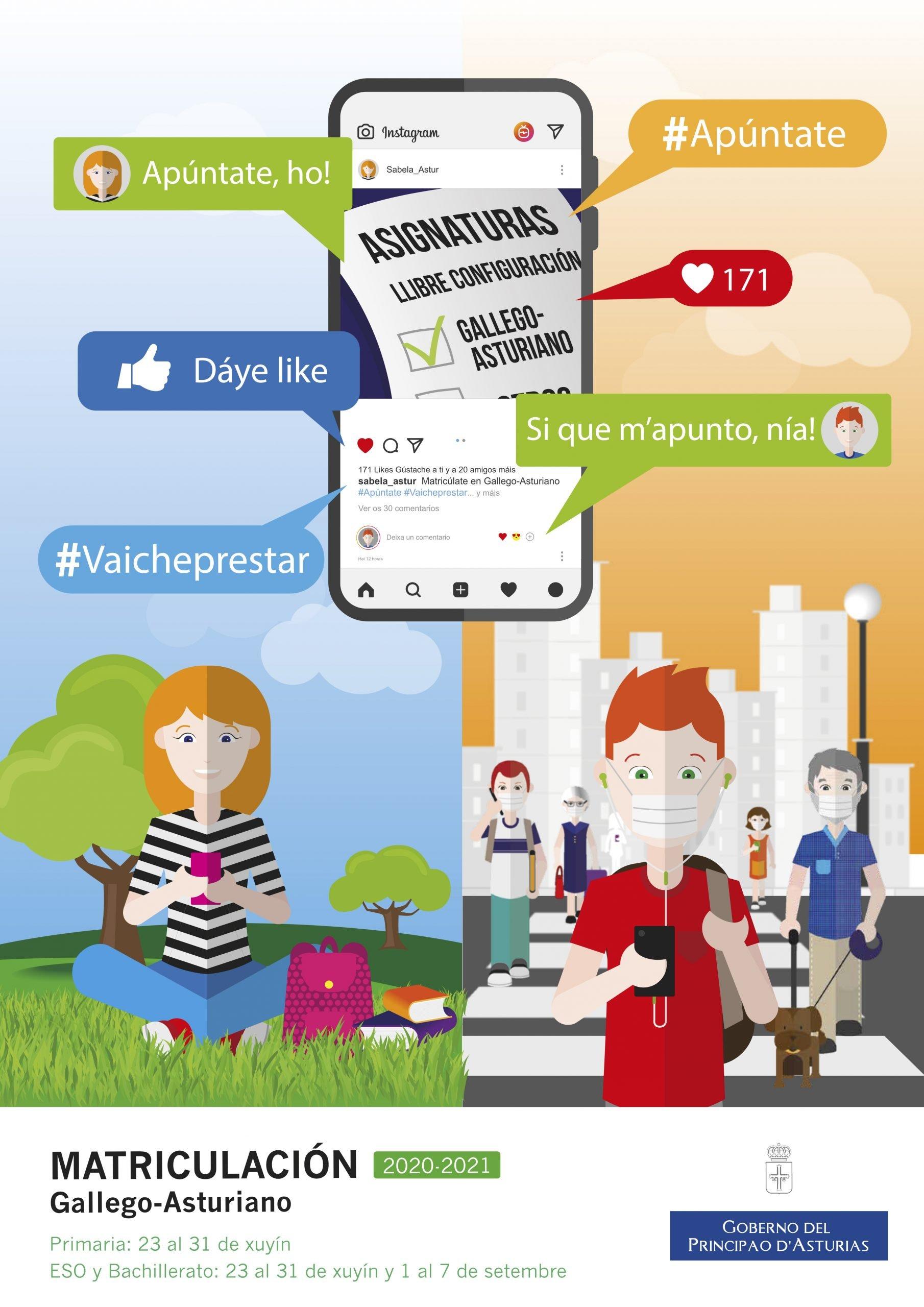 Campaña #Apúntate pá animar á matrícula en Lengua Asturiana y Gallego-Asturiano