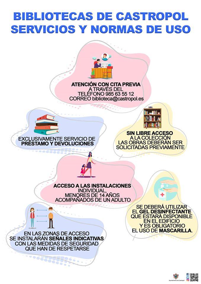 Las bibliotecas de Castropol y Figueras se suman al listado de las que retoman su actividad
