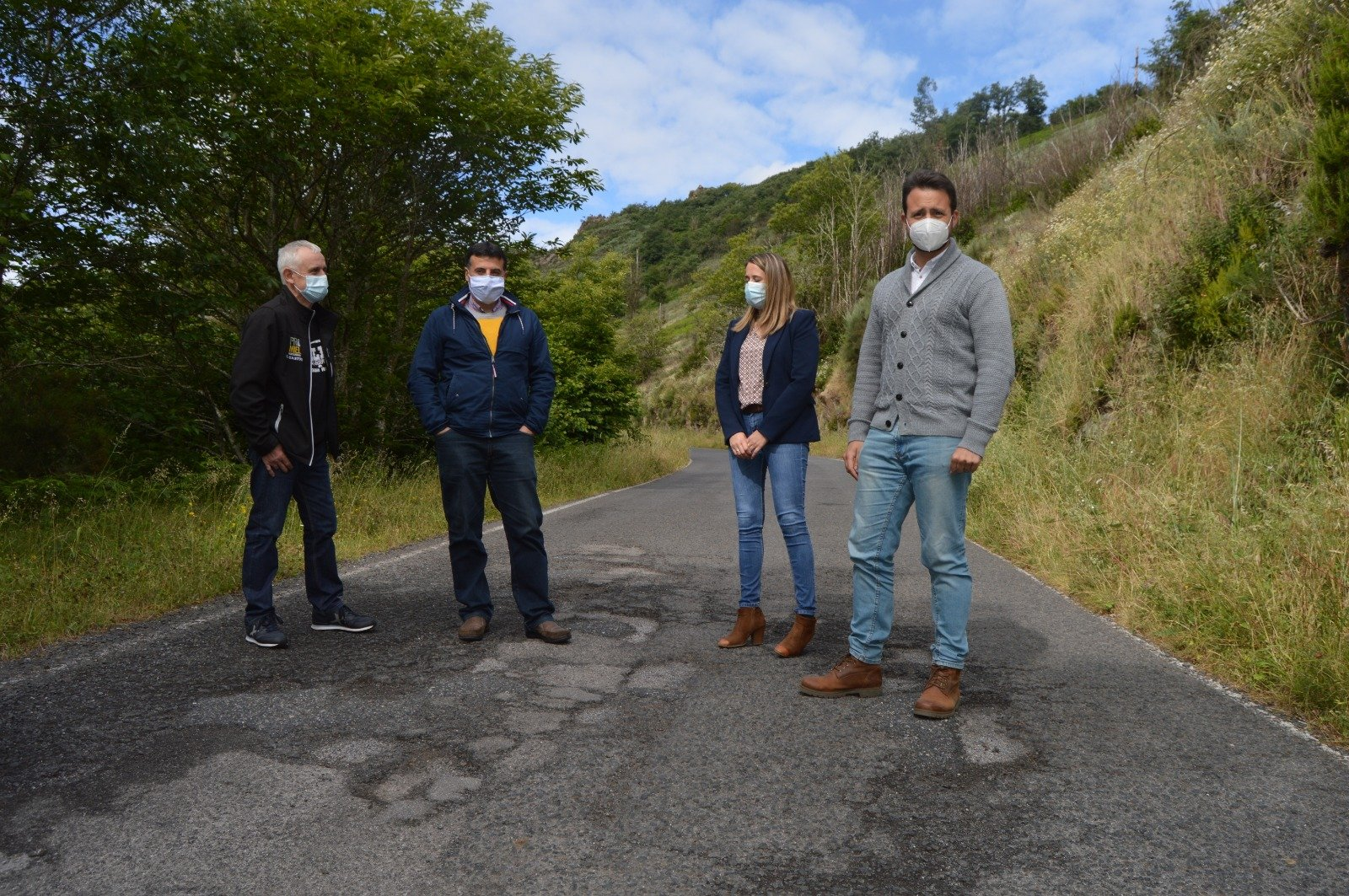El PP denuncia el mal estado de la carretera CN-1 Cangas del Narcea-Besullo