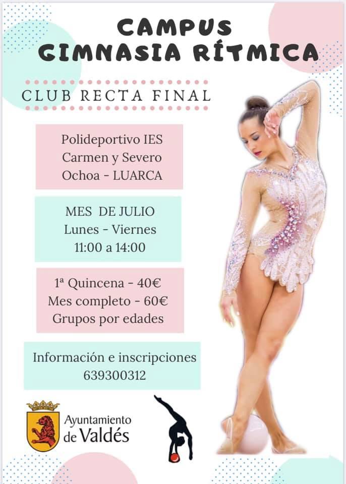 Campus de Gimnasia Rítmica del Club Recta Final durante este mes de julio en Luarca