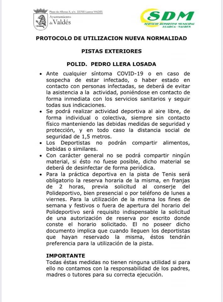 """Miguel García:""""Pedimos a los usuarios de las pistas exteriores del polideportivo que sean responsables y respeten el protocolo"""""""