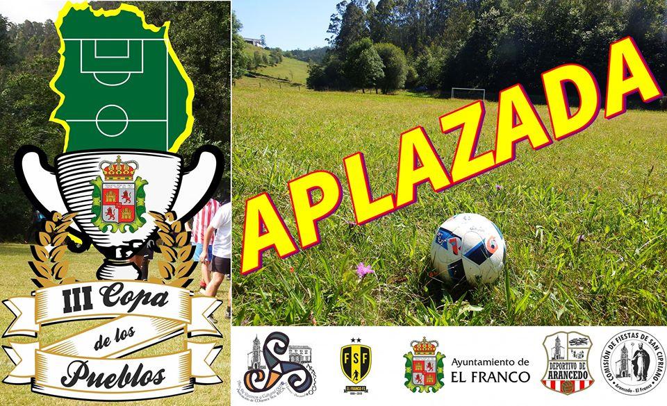 La 3ª Copa de los Pueblos de El Franco de Fútbol también Cancelada