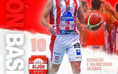 El naviego Carlos Suárez, jugador mas valorado del Gijón Basket ante Obradoiro