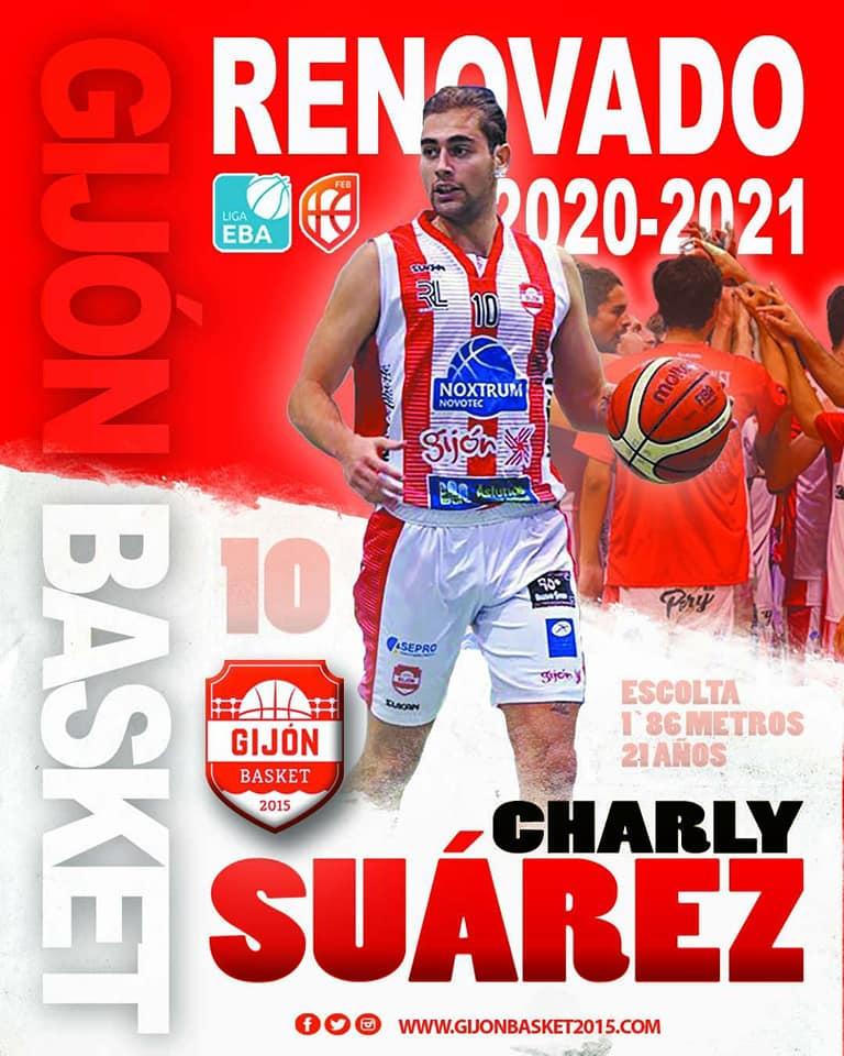 El naviego Charly Suárez, continuará en el Gijón Basket de Liga EBA