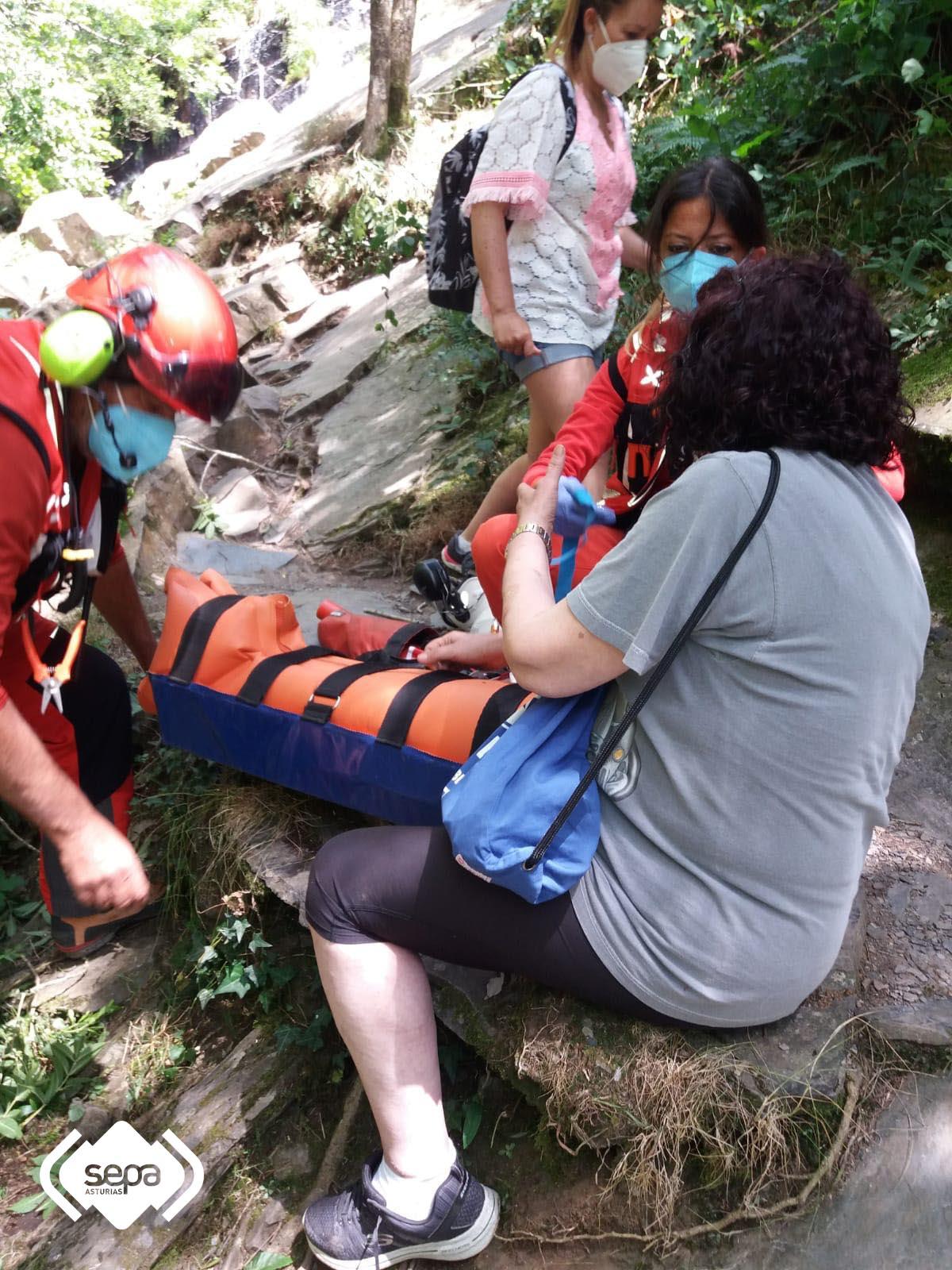 Rescate de montaña en Santa Eulalia de Oscos