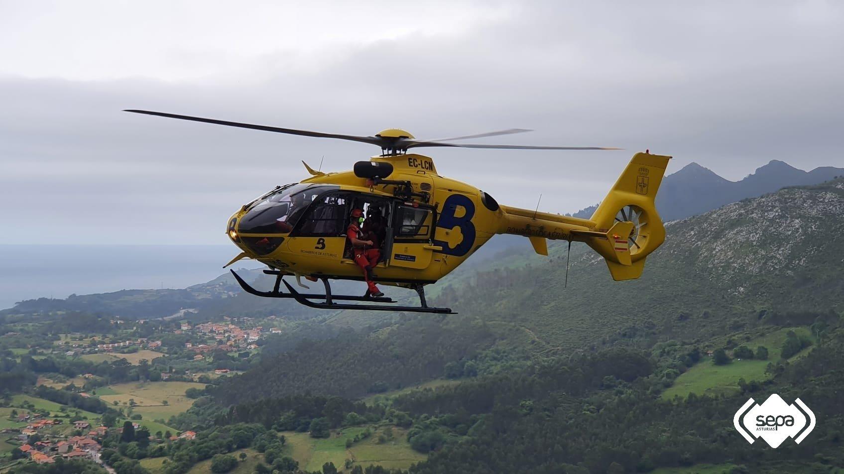 Rescate de montaña de Tres personas en Colunga