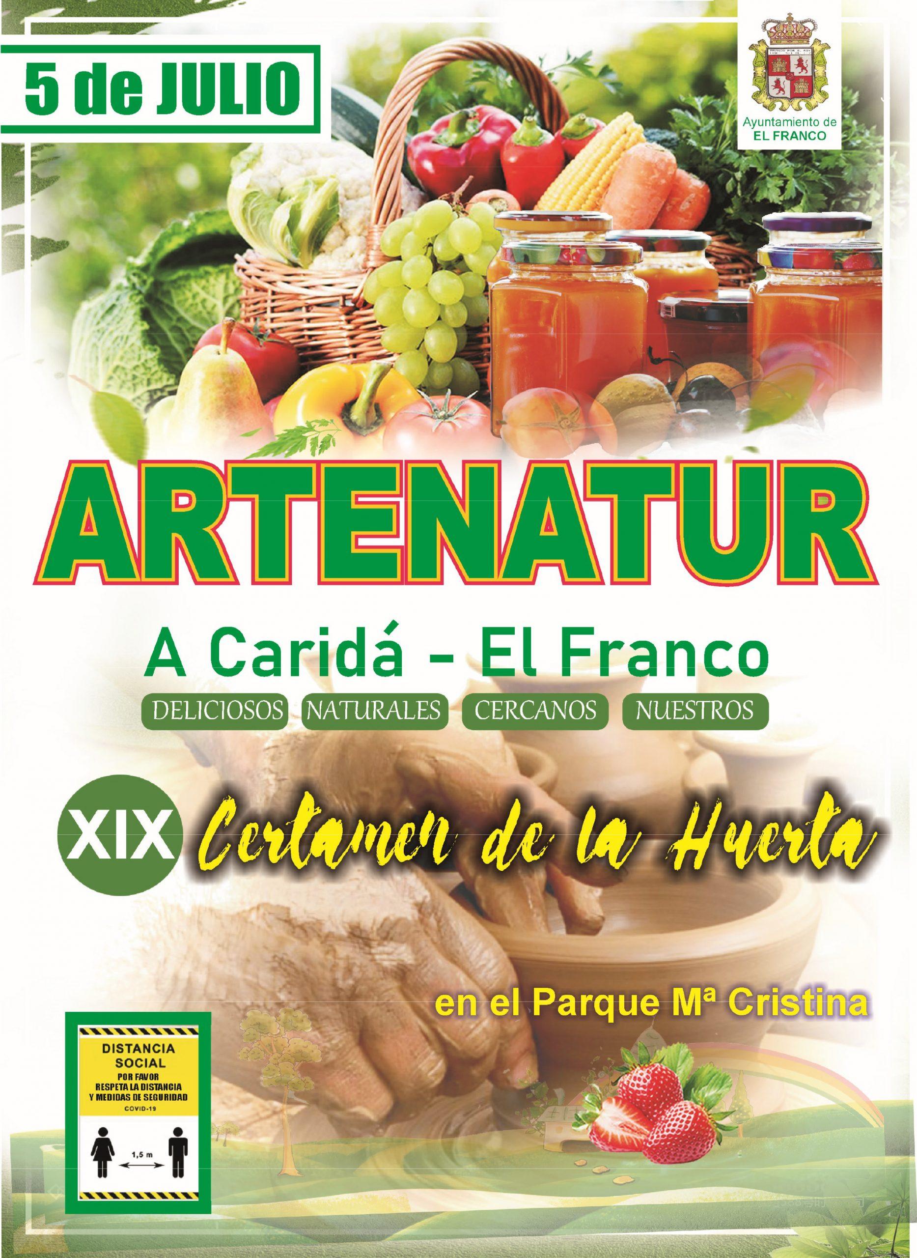 """XIX Certamen de la Huerta """"Artenatur"""" en A Caridá (El Franco), el domingo 5 de julio"""
