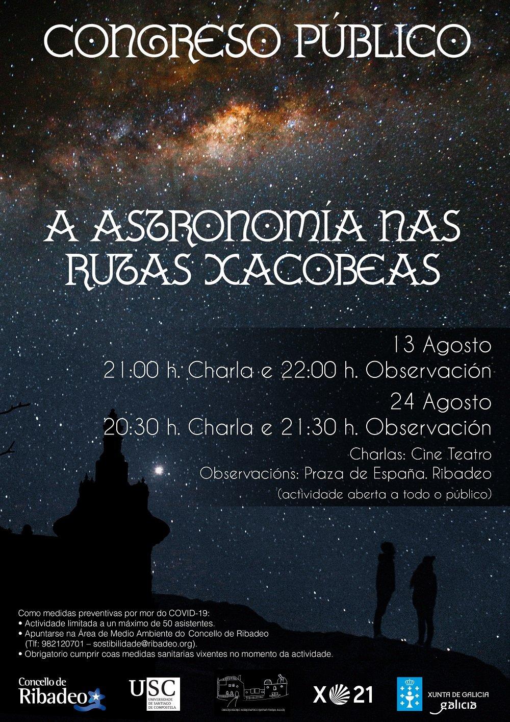 Nueva cita con la Astronomía en Ribadeo, el 13 y el 24 de agosto