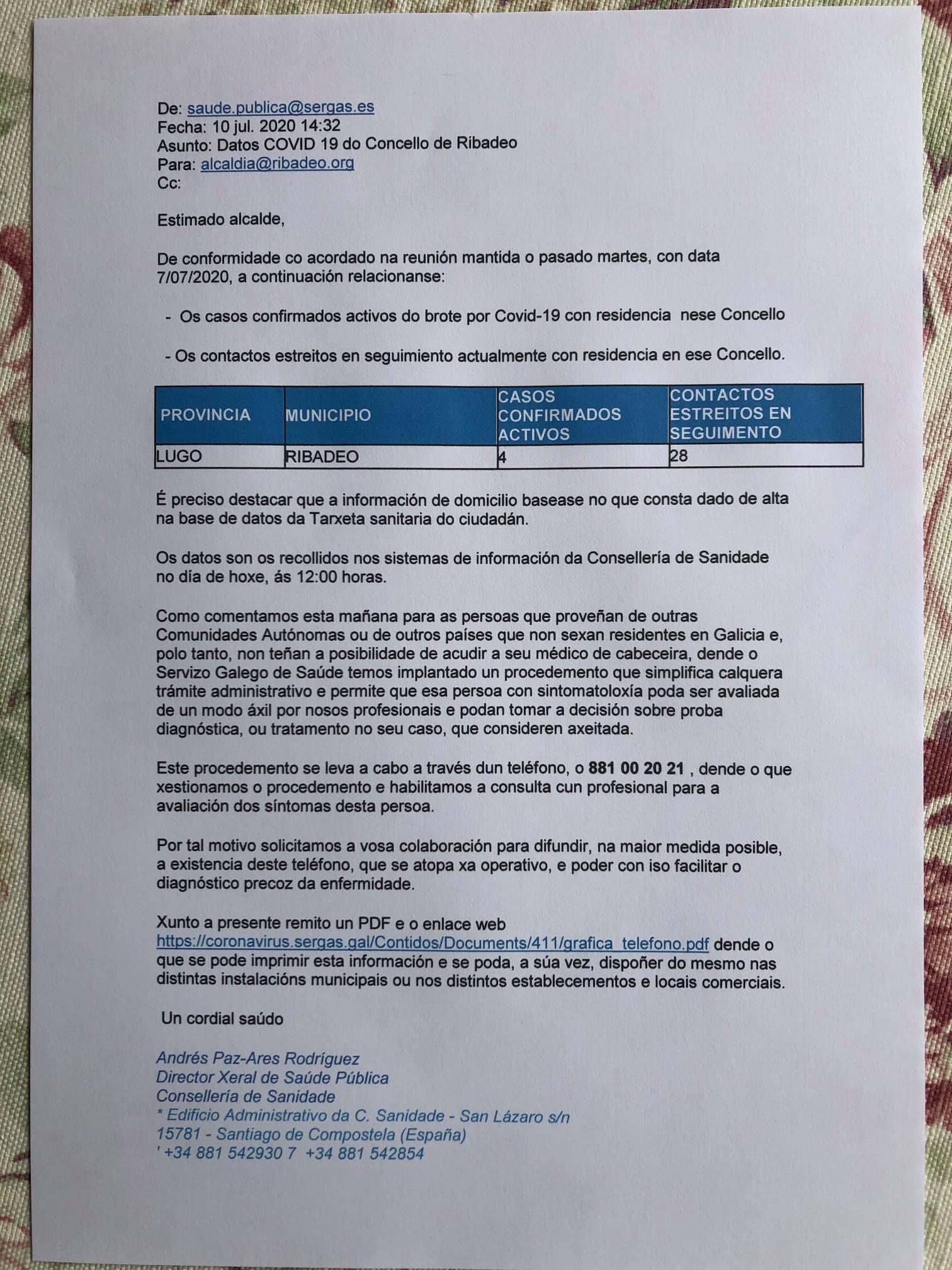 Alcaldes de A Mariña piden a la Xunta los informes técnicos por los cuáles se mantienen las restricciones a la movilidad otros 5 días