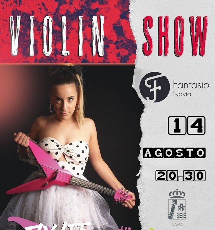 Violin Show con la violinista naviega Ely Lee en el Fantasio de Navia