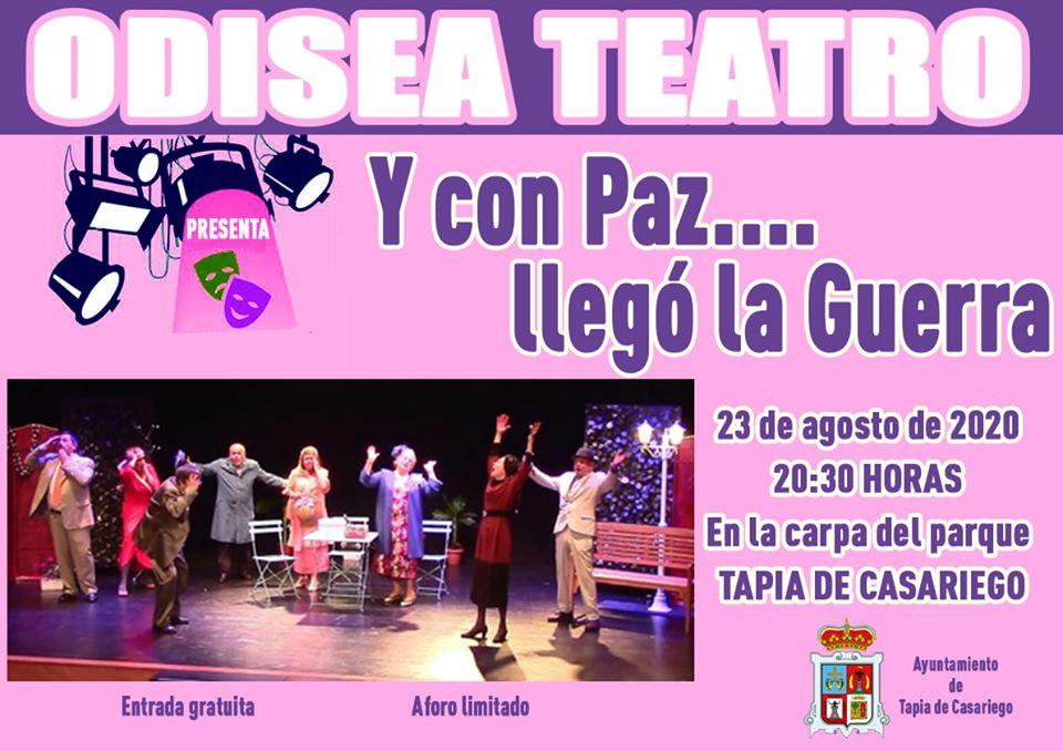 """Teatro """"Y con Paz ...Llegó la Guerra"""" el próximo domingo en Tapia"""