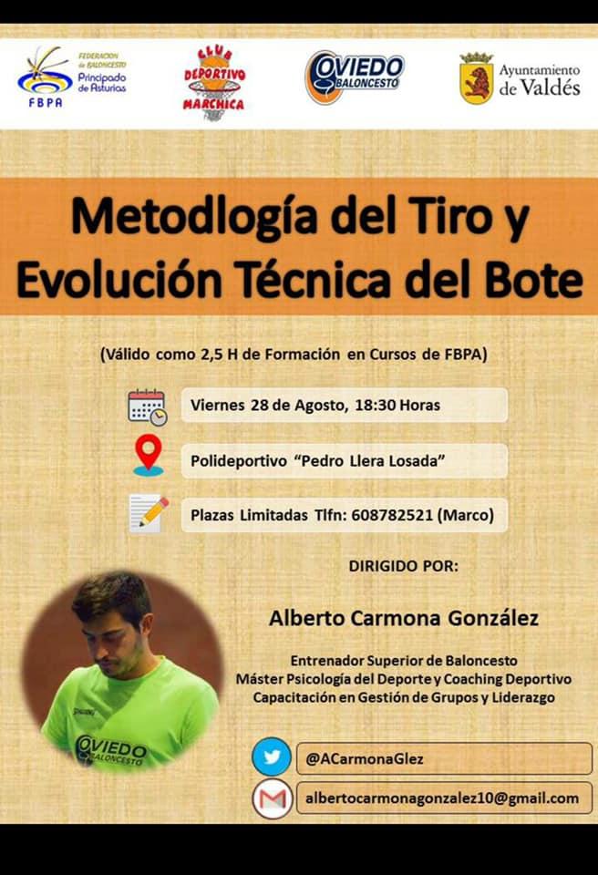 El CB Marchica celebra sus Jornadas de Tecnificación y un Clinic sobre Metodología del Tiro el próximo viernes