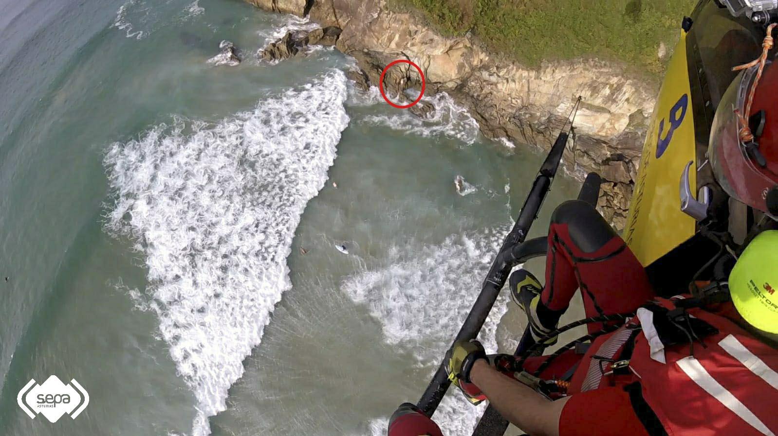 Rescate Marítimo en Muros del Nalón